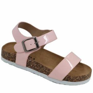 Jada Kidz Patent Sandal With Ankle Strap Pink