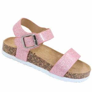 Jada Kidz Patent Sandal With Ankle Strap Pink Glitter