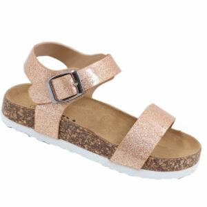 Jada Kidz Patent Sandal With Ankle Strap Gold Glitter
