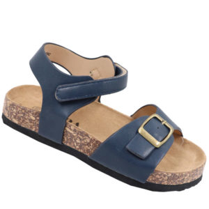 Jada Kidz Leather Look Sandal with Ankle Strap Navy