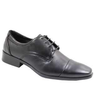 City Style Mens Round Nose PU Lace Up Shoe Black