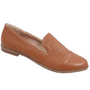 Jada Ladies Basic PU Mocassin Tan