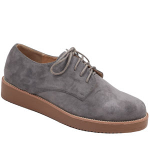 Jada Ladies Flatform Oxford Mocassin Charcoal