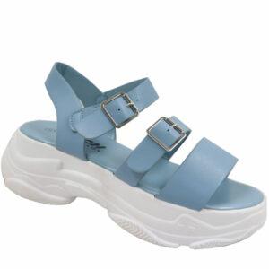 Jada Ladies Multi Strap Chunky Sandal Blue