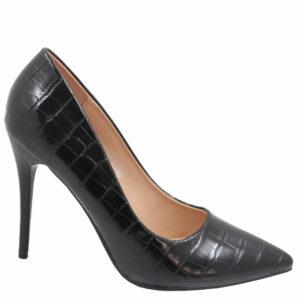 Jada Ladies Fashion Croc High Heel Black