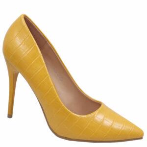 Jada Ladies Fashion Croc High Heel Mustard