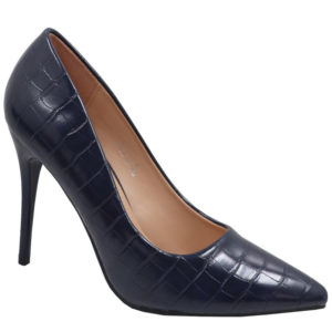 Jada Ladies Fashion Croc High Heel Navy