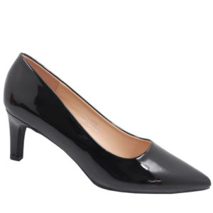 Jada Ladies Fashion Patent Low Heel Black