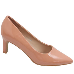 Jada Ladies Fashion Patent Low Heel Salmon