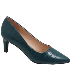 Jada Ladies Fashion Croc Low Heel Aqua