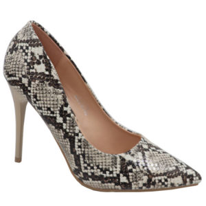 Jada Ladies Fashion Snake High Heel Beige