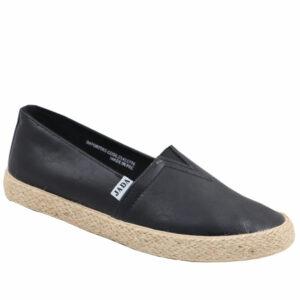 Jada Ladies PU Flat Espradrille Black