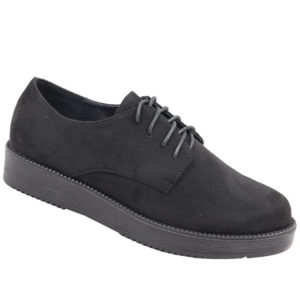 Jada Ladies Flatform Oxford Mocassin Black