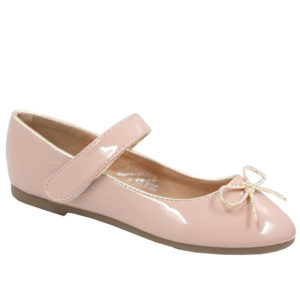 Jada Kidz Mary Jane Patent Pump With Velcro Strap Nude
