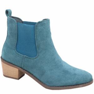 Jada Ladies Gusset Ankle Boot Sea Blue