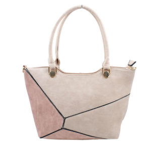 BLACKCHERRY BEIGE COLOUR BLOCK SHOULDER BAG