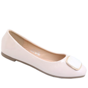 City Style Ladies Pump With Embelishment Nude