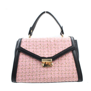 BLACKCHERRY PINK TWEED FRONT ENVELOPE FLAP HANDBAG