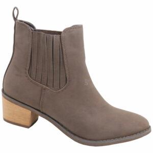 Jada Ladies Nubuck Gusset Ankle Boot Brown