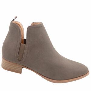 Jada Ladies Side Gusset Nubuck Ankle Boot Brown
