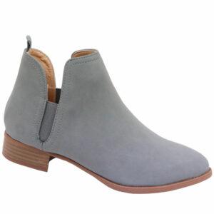 Jada Ladies Side Gusset Nubuck Ankle Boot Grey