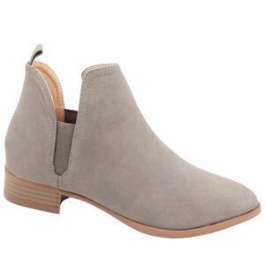 Jada Ladies Side Gusset Nubuck Ankle Boot Taupe