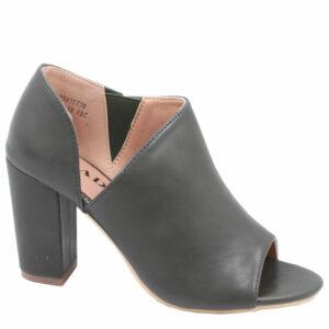Jada Ladies PU Open Toe Heel With Elastic Detail Khaki