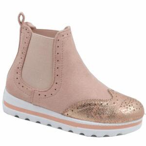 Jada Kiddies Pu Flat Form Ankle Boot Blush/Rose