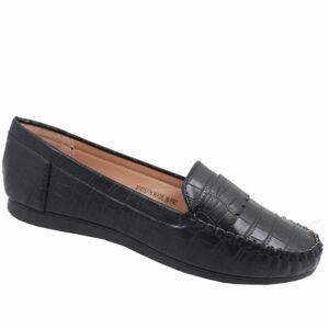 Spoiler Ladies Comfort Croc Pump Black