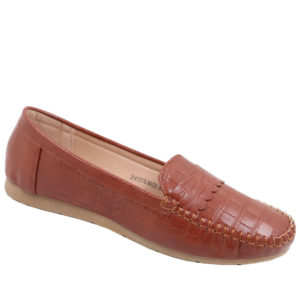 Spoiler Ladies Comfort Croc Pump Tan