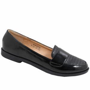 Tatazi Ladies Combo Loafer Pump Black