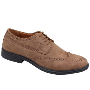 City Style Mens Formal Nubuck Lace Up Shoe Mid Brown