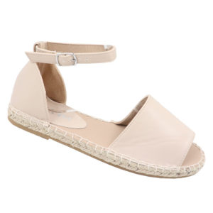 Jada Ladies Closed Back Ankle Strap Espadrille Sandal Stone