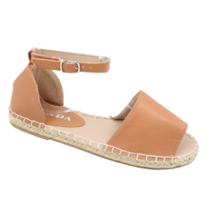 Jada Ladies Closed Back Ankle Strap Espadrille Sandal Tan