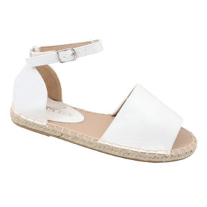 Jada Ladies Closed Back Ankle Strap Espadrille Sandal White