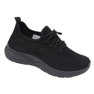 DSL Ladies Mesh Fashion Sneaker Black Mono