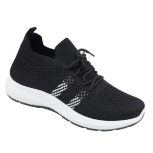 DSL Ladies Slip-In Combo Fashion Sneaker Black