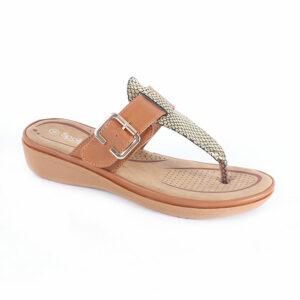 Spoiler Ladies Combo Comfort Thong Sandal Tan