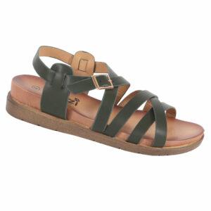Tatazi Ladies PU Strappy Sandal Olive