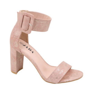 Jada Ladies Block Heel With Thick Ankle Strap Dusty Pink