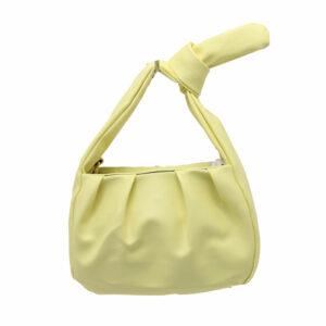 Blackcherry Knot Baguette Bag Yellow