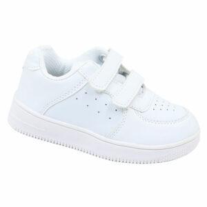 DSL Infants Fashion Sneaker With Velcro Strap White