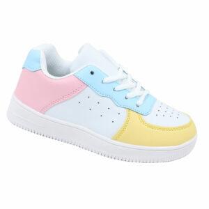 DSL Kiddies Lace Up PU Fashion Sneaker Multi