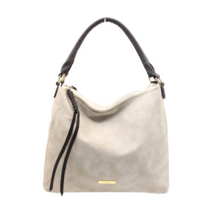 Blackcherry Grey Double Compartment Lila Shoulder Bag