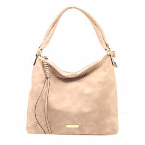 Blackcherry Dusky Pink Double Compartment Lila Shoulder Bag