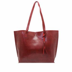Blackcherry Burgundy Tassel Shoulder Bag
