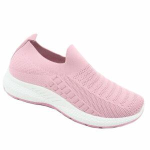 DSL Ladies Slip-On Mesh Sneaker Dark Pink