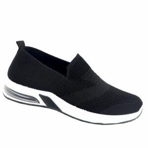 DSL Mens Slip-On Mesh Sneaker Black