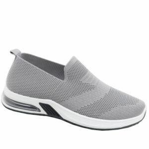 DSL Mens Slip-On Mesh Sneaker Light Grey