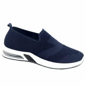 DSL Mens Slip-On Mesh Sneaker Navy